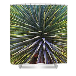 Yucca At The Arboretum Shower Curtain by Tom Janca