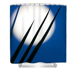 Shower Curtain featuring the photograph Yucca Moon by Jim Garrison