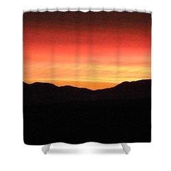 Yukon Gold And Crimson Shower Curtain by Brian Boyle