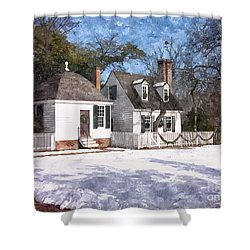 Yule Cottage Shower Curtain