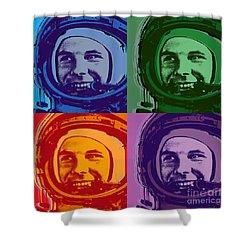 Yuri Gagarin  Shower Curtain by Jean luc Comperat