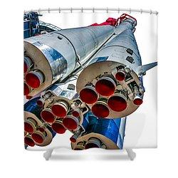 Yuri Gagarin's Spacecraft Vostok-1 - 5 Shower Curtain