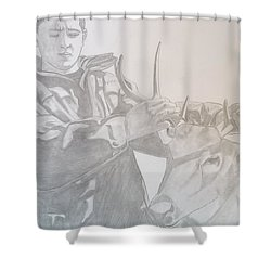 Zach's First Deer Shower Curtain by Justin Moore