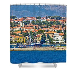 Zadar Waterfront Sea Organs View Shower Curtain by Brch Photography