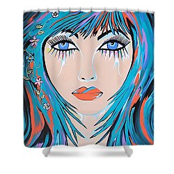 Zahara - Contemporary Woman Art Shower Curtain