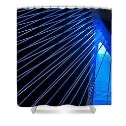 Zakim In Blue - Boston Shower Curtain by Joann Vitali