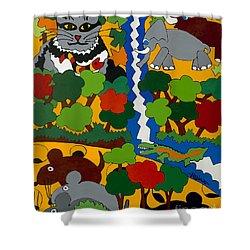 Zane Grey In Africa Shower Curtain