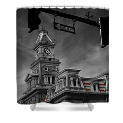 Zanesville Oh Courthouse Shower Curtain