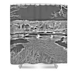 Zanesville Ohio Ybridge Shower Curtain
