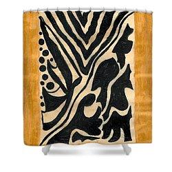 Zebra Shower Curtain by Carla Sa Fernandes