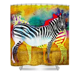 Zebra Colors Of Africa Shower Curtain