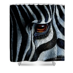Zebra Shower Curtain by Jurek Zamoyski