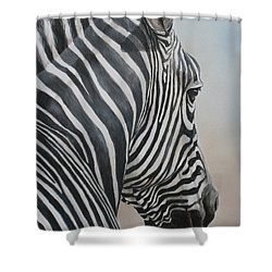 Zebra Look Shower Curtain