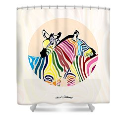 Zebra  Shower Curtain by Mark Ashkenazi