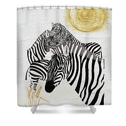 Zebra Quintet Shower Curtain