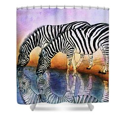 Zebra Reflections Shower Curtain