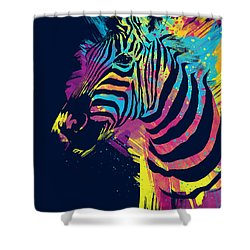 Zebra Splatters Shower Curtain