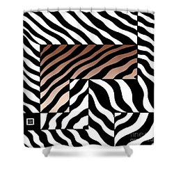 Shower Curtain featuring the drawing Zebra Squares by Joseph J Stevens