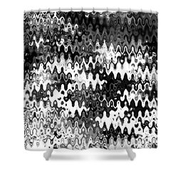 Shower Curtain featuring the digital art Zebras by Anita Lewis
