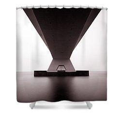 Zeelandbrug 1 Shower Curtain by Dave Bowman