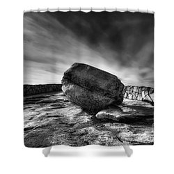 Zen Black White Shower Curtain