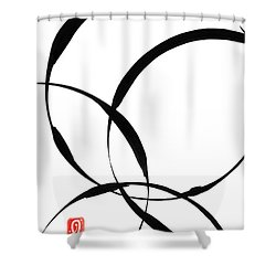 Zen Circles 2 Shower Curtain by Hakon Soreide