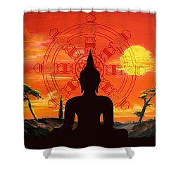 Zen Shower Curtain by Corporate Art Task Force