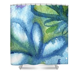 Zen Leaves Shower Curtain by Linda Woods
