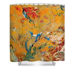Zen  Shower Curtain by Nancy Kane Chapman