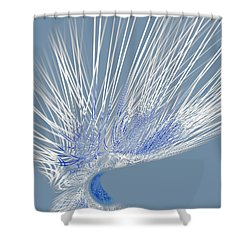 Shower Curtain featuring the digital art Zephyr by Judi Suni Hall