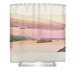 Zeppelin, Published Paris, 1914 Shower Curtain