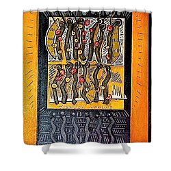 Zerega Avenue Swells For Paul Detail Shower Curtain by Al Goldfarb