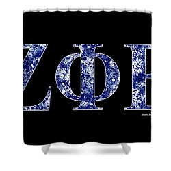 Zeta Phi Beta - Black Shower Curtain