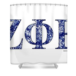 Zeta Phi Beta - White Shower Curtain