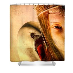 Zeus And Leda Shower Curtain by Bob Orsillo