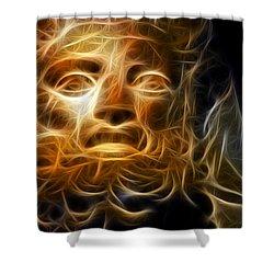 Zeus Shower Curtain by Taylan Apukovska