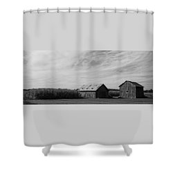 Zink Rd Farm 2 In Black And White Shower Curtain