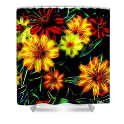 Zinnias With Zest Shower Curtain by Nick Kloepping