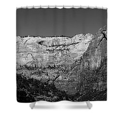 Zion Cliff And Arch B W Shower Curtain