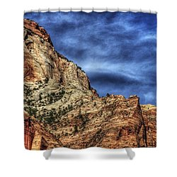 Zion Face 695 Shower Curtain by Jerry Sodorff