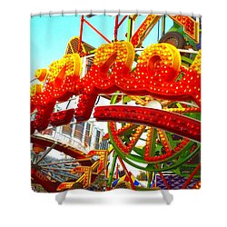 Shower Curtain featuring the photograph Zipper  by Marianne Dow