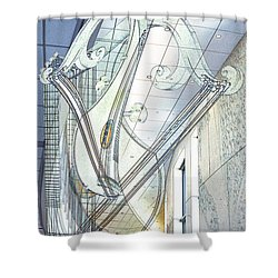 Zither Dance Shower Curtain