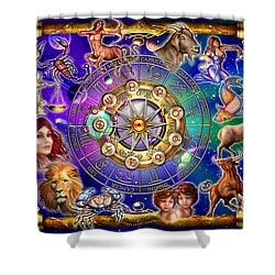 Zodiac Shower Curtain by Ciro Marchetti