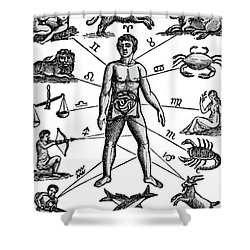 Zodiac Man Drawing Relating Astrology Shower Curtain