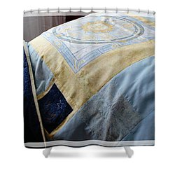Zodiac Patchwork Quilt Shower Curtain by Barbara Griffin