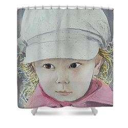 Shower Curtain featuring the painting Zoey  by Betty-Anne McDonald