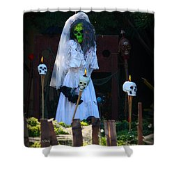 Zombie Bride Shower Curtain by Patrick Witz
