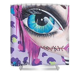 Zombie Punk Shower Curtain