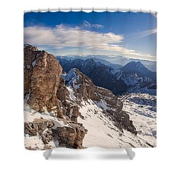 Zugspitze Summit Shower Curtain