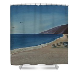 Zuma Lifeguard Tower Shower Curtain